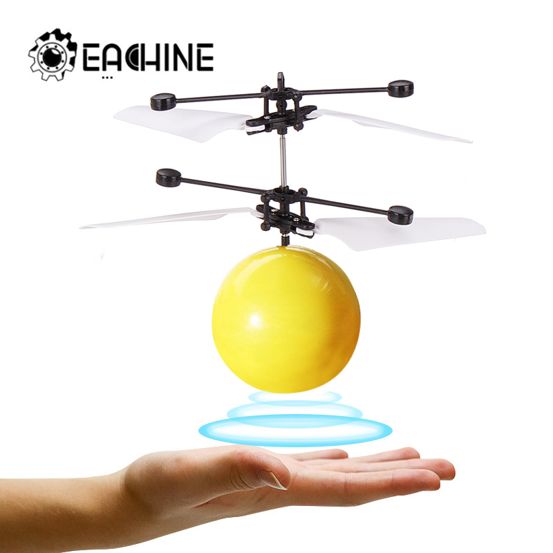 Eachine Mini Drone Hand Induction Flying Ball Facial Expression Toy Funny RC Helicopter Aircraft For Kid Toys Gift Flying Toys(China)