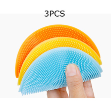 3pc Silicone Dish Washing Sponge Scrubber Kitchen Cleaning Tool Soft Cleaning Brush Kitchen Dishwashing Tools 2pcs multifunction silicone dish bowl cleaning brush dish sponge kitchen washing tool