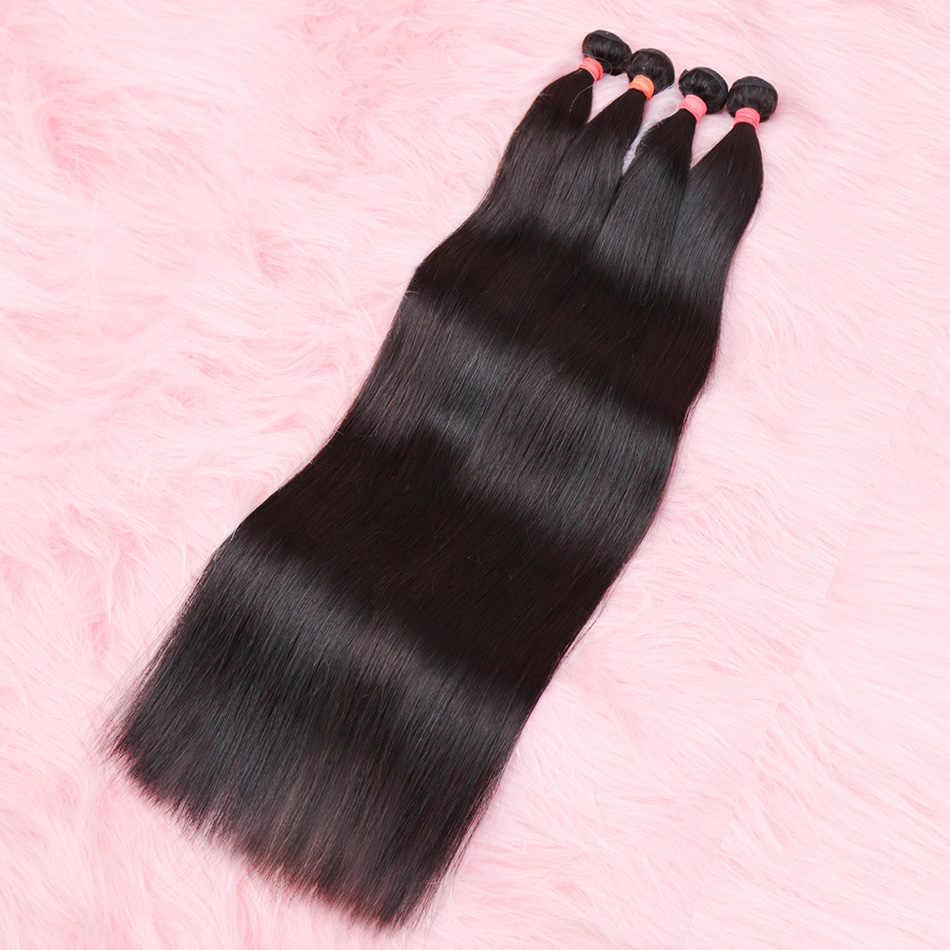 28 30 32 34 40 Inch Straight Braziliaanse Haar Weeft Bundels 3 4 Bundels Menselijk Haar Bundels Enkele Bundels Virgin hair Extensions