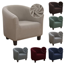 Spandex Elastic Coffee Tub Sofa Armchair Seat Cover Protector Washable Furniture Slipcover Easy-install Home Chair Decor