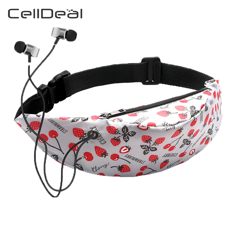 Women Fanny Waterproof Waist Bag 3D Colorful Printing Travel Vintage Waist Pack Mobile Pouch Money Belt Chest Bags Fashion
