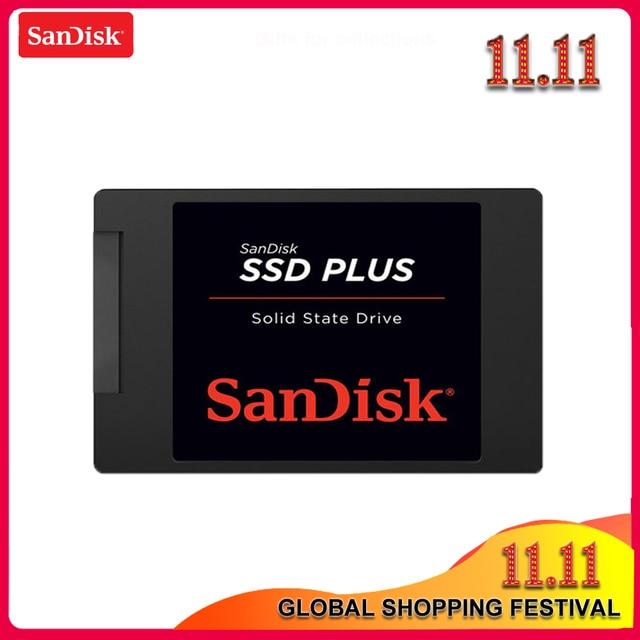 기존 sandisk ssd plus 120 gb 240 gb sata 3 2.5 인치 내부 솔리드 스테이트 드라이브 hdd 하드 디스크 hd ssd 노트북 pc ssd 480 gb 1 테라바이트