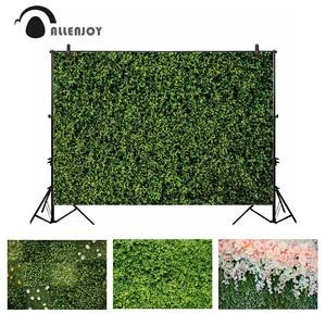 Image 1 - Allenjoy 결혼식 배경 봄 꽃 잔디 잎 자연 베이비 샤워 신생아 배경 파티 Photocall Photobooth 비닐
