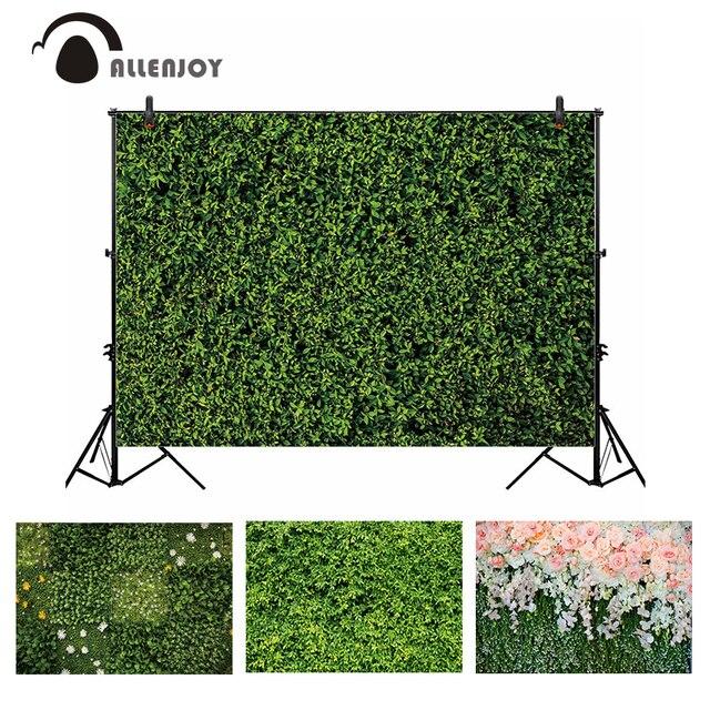 Allenjoy 결혼식 배경 봄 꽃 잔디 잎 자연 베이비 샤워 신생아 배경 파티 Photocall Photobooth 비닐