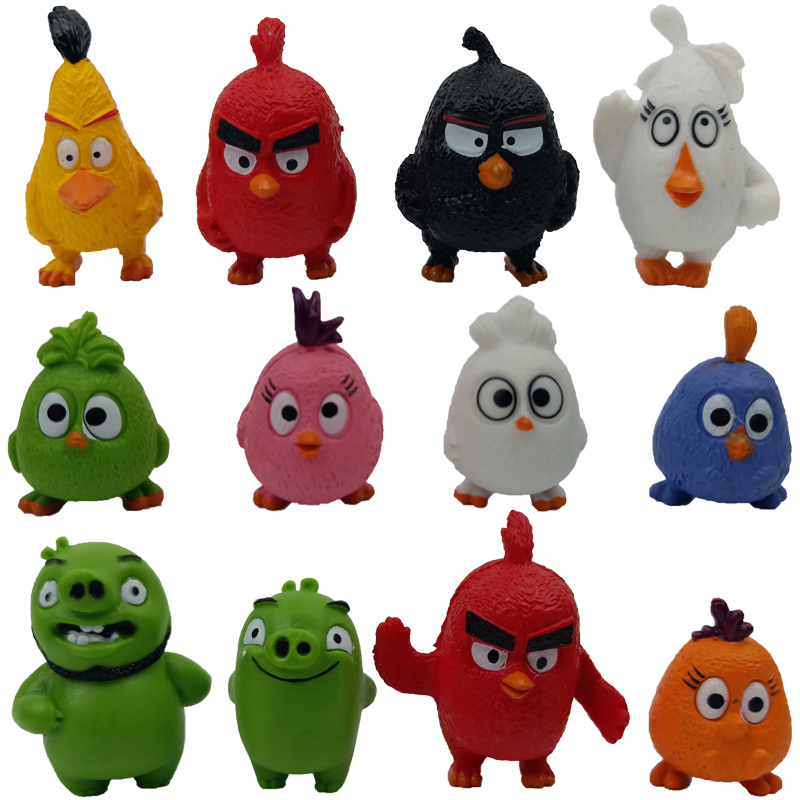 12 Pcs Angry Bird Red The Blues Chuck Bomb Matilda Birds mini model Action Toy Figures