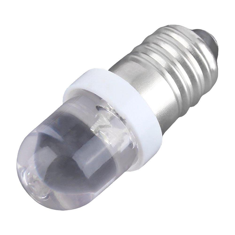 LED Screw Base Indicator Bulb Cold White 6V DC Illumination Lamp Light E10 LED Lights E10 Bulb Flashlight Bulb
