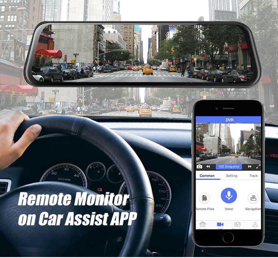 """車 dvr A980 4 グラム android 8.1 adas 10 """"ストリームメディアダッシュカムカメラ車のカメラレコーダー dvr dashcam gps ナビゲーション 1080 1080p wifi"""