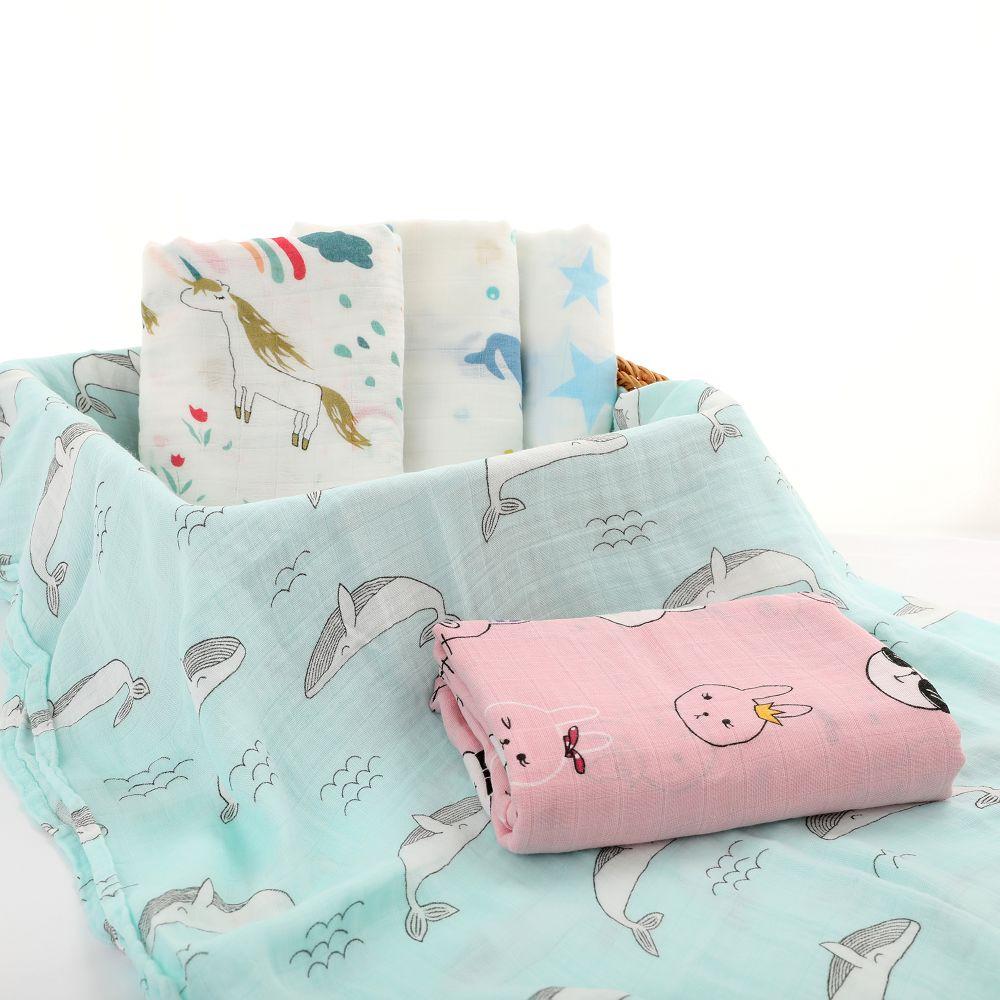 Baby Handtuch Decke Bad Neugeborenes Bettwäsche Wrap Swaddle Baumwolle Mode Neu