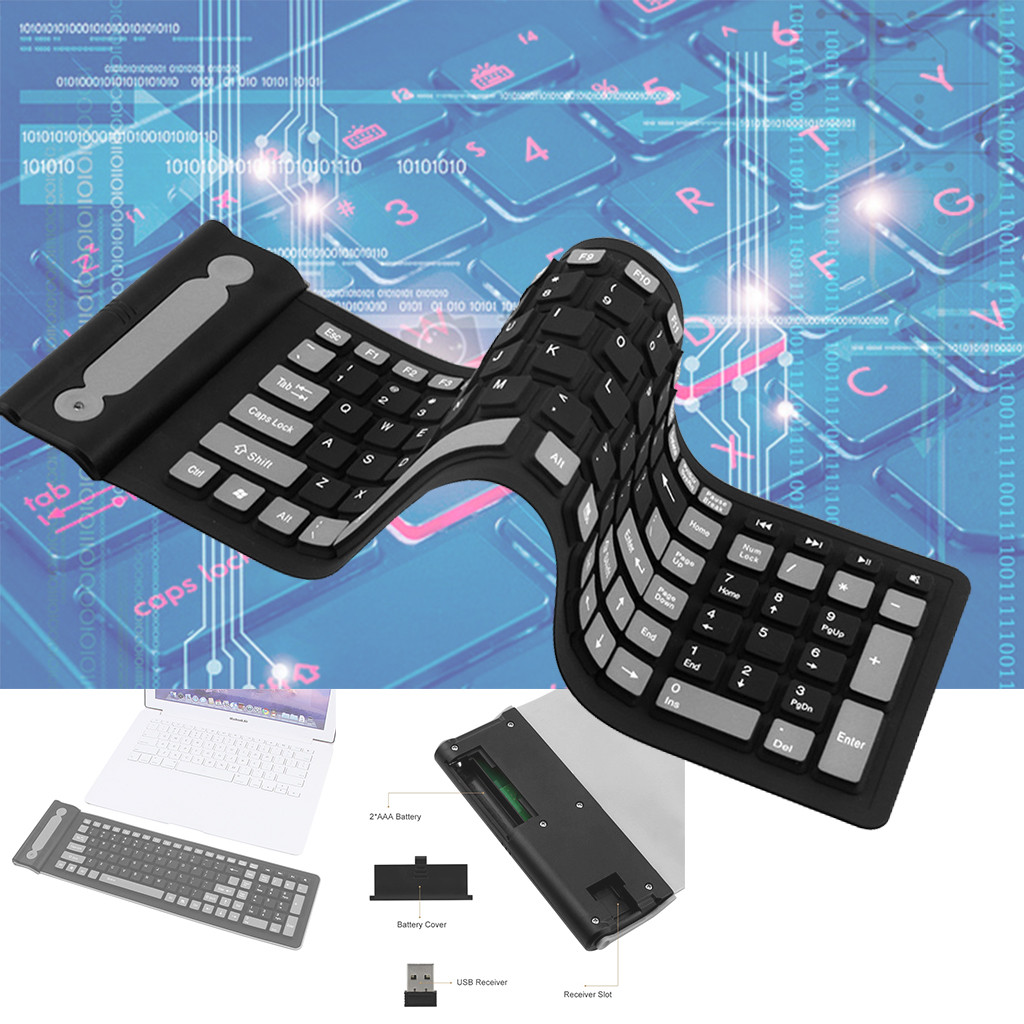 DP-iot HOT-Portable USB Mini Keyboard Flexible Water Resistant Soft Silicone Mini Keyboard for Tablet Computer Pc Tablet Gaming Keybo