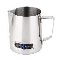 Melk Opschuimen Werper Met Thermometer Rvs 600 Ml Koffie Opschuimen Jug Thuis Keuken Melk Cup-in Melkkan van Huis & Tuin op