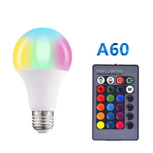 New 110V 220V E27 RGB LED Bulb Lights  RGB  Magic Led Bulb Changeable Colorful RGBW LED Lamp With IR Remote Control+Memory Mode