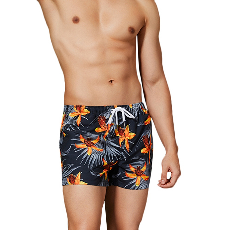 Summer Men  Men's Pants Swimsuits Floral Shorts National Sand Swim Trunks Beach Beach Nickel Bohe