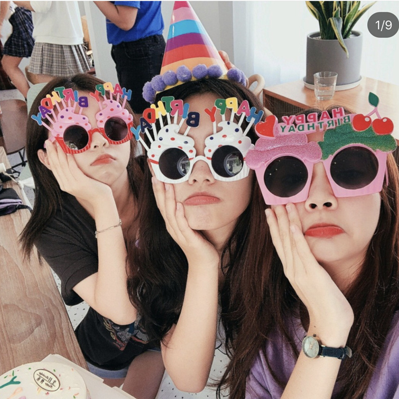 Happy Birthday Glasses Funny Novelty Eyeglasses Candle Sunglasses Party Glasses Party Supplies Birthday Gift For Kid  Kids Hats