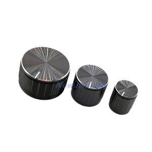 Черный потенциометр из алюминиевого сплава/ручки энкодера, колпачки 30/21/15x17 мм, полувал сливового вала, 5 шт.