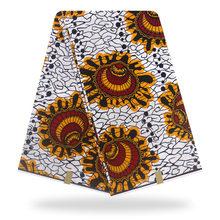 african fabric wax print Holland wax cloth 100% cotton material 6yards african ankara wholesale cotton wax fabric for dress