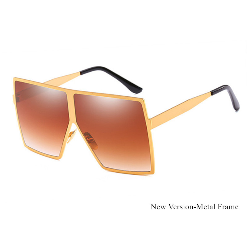 Closeout DealsVintage Big Square Sunglasses Women Goggles Mens Oversize Sun Glasses Female Fashion Famous Brand Black Eyewear Gafas de sol