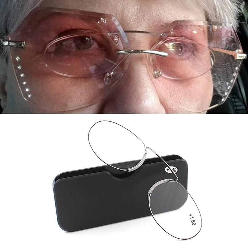 pince-nez reading glasses for men magnifying glasses female dioptre glasses focus plus points +1.0 1.5 2.0 2.5 3.0 3.5 4.0