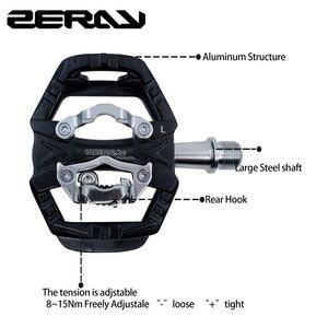 Image 2 - Zeray pedais mtb plataforma dupla auto bloqueio pedais de bicicleta de montanha compatível com spd bicicleta acessórios ZP 109S mtb pedais