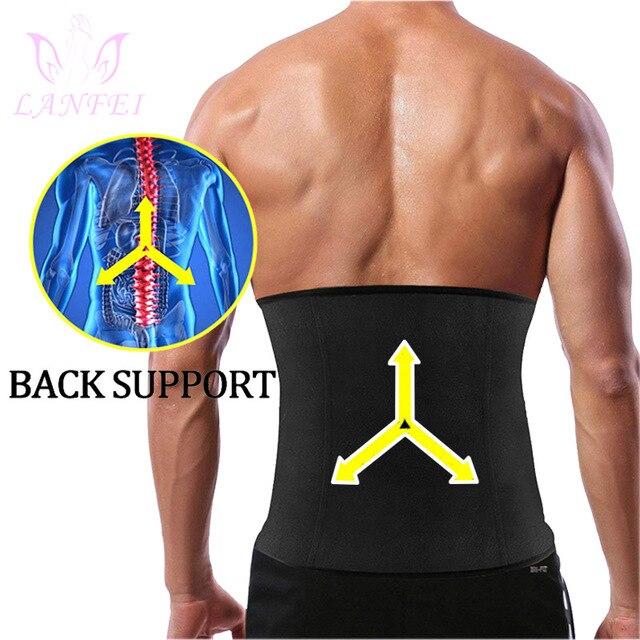 LANFEI Body Shaper Waist Trainer Slimming Shapewear Men Neoprene Sauan Sweat Weight Loss Belt Gym Fitness Modeling Strap Corset 4