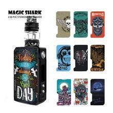 Magic Shark Captain American Tiger Wolf Motorcycle Today is the Best Day PVC Case Sticker Skin for Voopoo Drag 2(China)