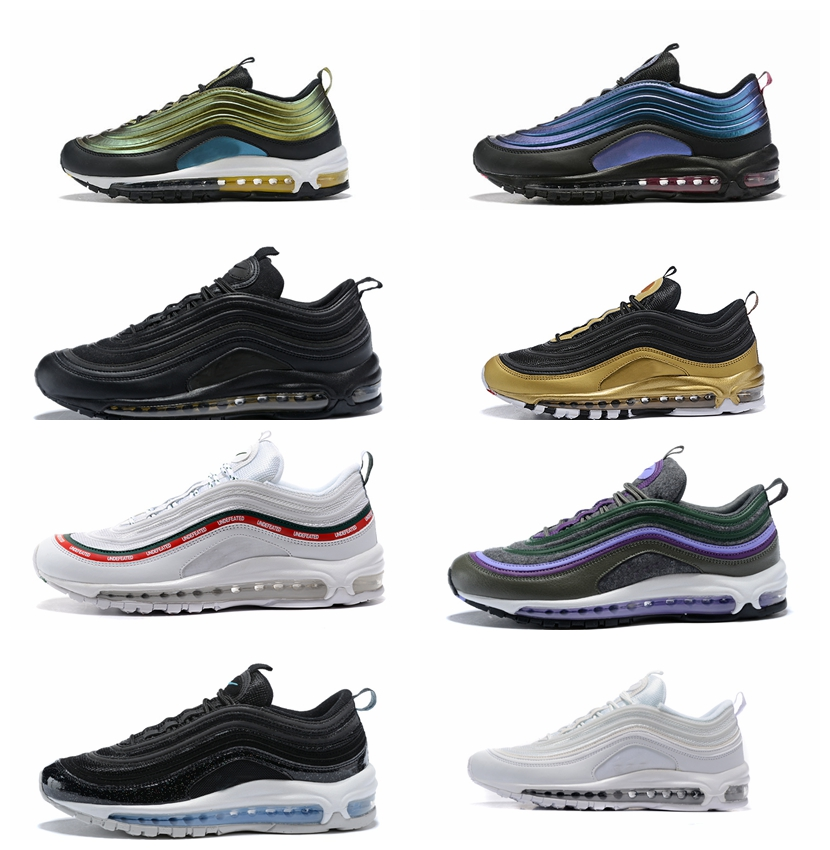 New Brand Signal 97 Shoes Og Triple White Air Running Shoes OG Metallic Gold Ball Pink Men Trainer Max Women 97 Sport Sneakers