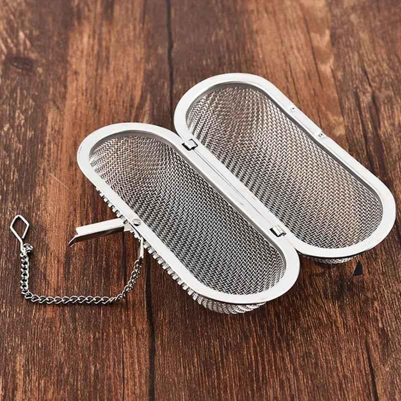 Gadget dapur Dapat Digunakan Kembali Bumbu Longgar Daun Teh Herbal Alat Teh Saringan Menggantung Teh Infuser Stainless Steel Teh Aksesoris