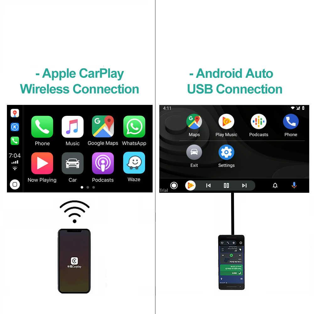 Carplay Adapter do bezprzewodowy Apple lustro Link/telefonu z systemem Android USB połączenia przewodowego dla Android Auto samochód grać tuner tv