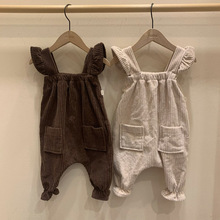 Pants Jumpsuit Overalls Girls Infant Baby-Boys Kids Corduroy Children Casual New Solid
