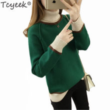 Style Pullover Autumn Fashion Knitted Turtleneck Sweater Women Winter Clothes Ladies Tops Sueter Mujer LWL840(China)