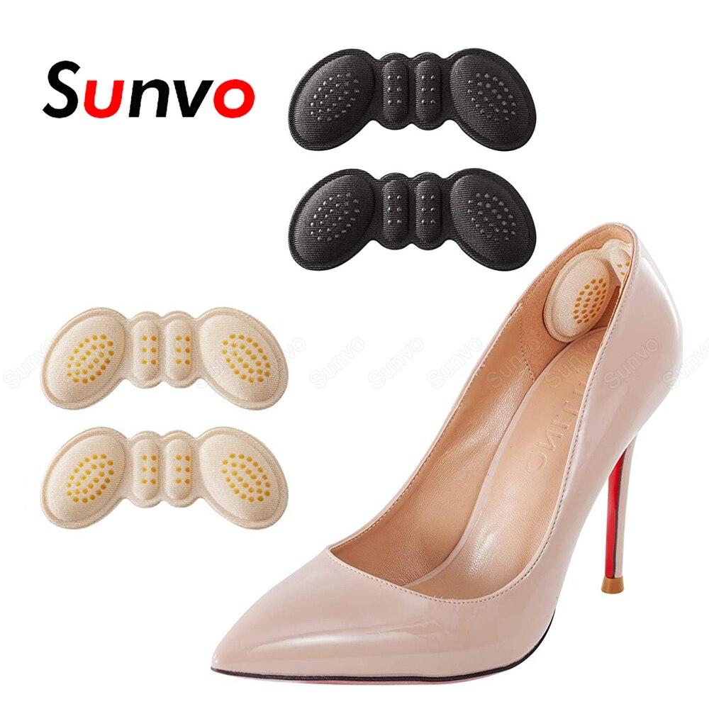 Sunvo каблук подушки вставки протектор колодки для Для женщин высокий каблук вкладыш сцепление стельки свободная обувь Размеры редуктор для ...