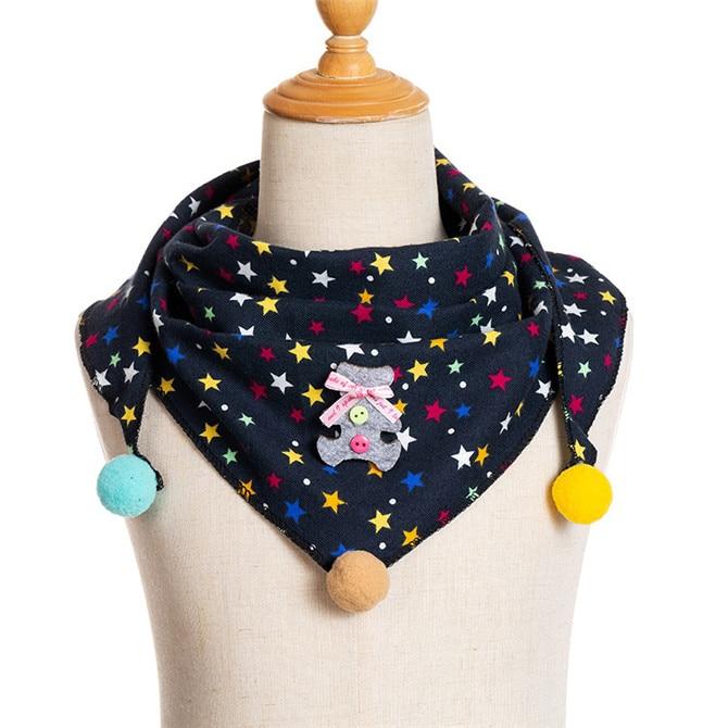 Весенние клетчатые треугольные шарфы в горошек для маленьких девочек; осенне-зимняя шаль для мальчиков и девочек; Детские хлопковые воротники; теплый детский шейный платок - Цвет: C16