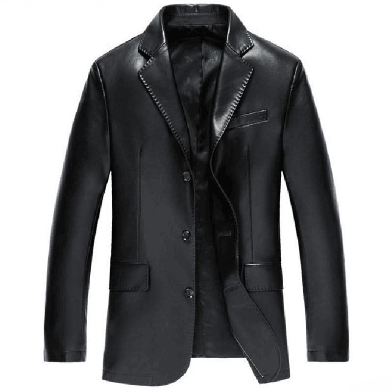 2019 New Autumn Winter Leather Jacket Men Casual Social Leather Jacket Quality Business PU Leather Jacket Men