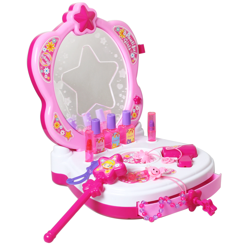 girls  make-up toys Annaelsa Princess Girl toy Deluxe Large Dressing Table Child Pretend Play Toy Child Furniture Toy