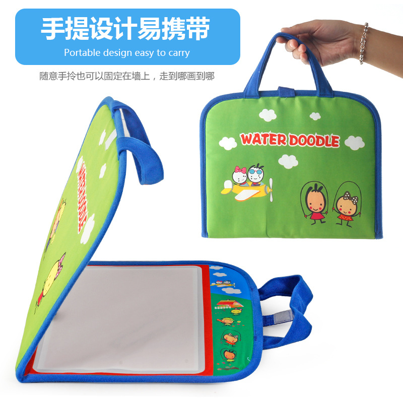 Children Hand Backpack Magic Canvas Color Graffiti Water Painted Doing Homework Water Drawing Book Pictorial Carpet
