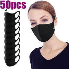 50/10pcs Unisex Anti Dust Mouth Mask Anti-haze Anti-fog PM2.5 cloth Face Cover Outdoor Protection Washable Reusable Adult masks