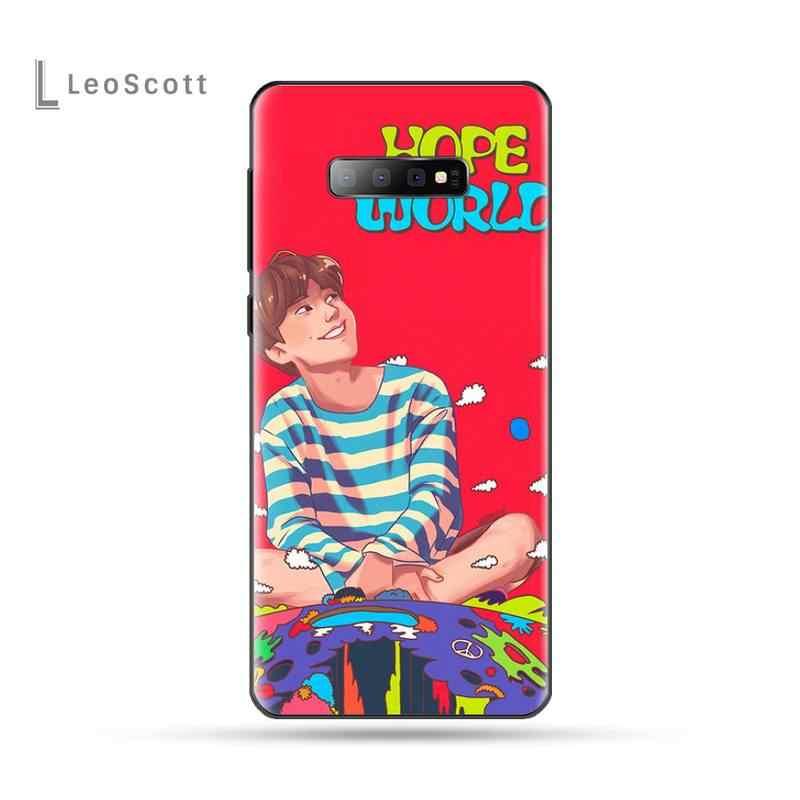 願っ世界 bangtan ボーイズ coque シェル電話ケース S6 S7 エッジ S8 S9 S10 e プラス A10 A50 a70 note8 J7 2017