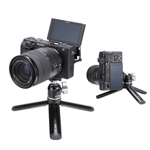 Mini tablet tripé de metal com ballhead ajustável para osmo móvel 3 cardan acessórios iphone andriod dslr câmera tripé kit