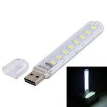 цена на USB LED Book Lights Night light 8LEDs SMD 5730 LED Bulb 5V Power Input White 5000-6500K Warm White 3000-3500K USB Portable Lamp