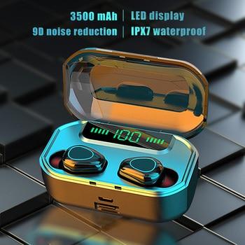 3500mah G20 беспроводные наушники bluetooth earbuds earphone 5.0 tws Wireless Mini headphones touch headset with Charging Box 1