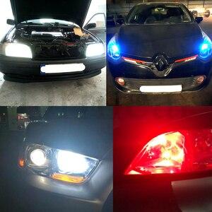 Image 5 - 2 uds. De luces interiores blancas, 25smd rojas y azules, bombilla LED 1210, 3528, bombilla Led para automóvil 921, 194, 168, luz Cob, luz Led de conducción diurna