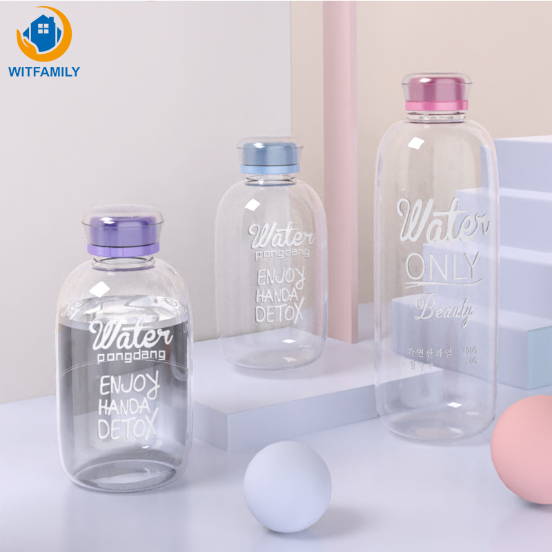 600ml 1000ml Creative Glass Bottle Student Portable Large capacity Lovely Transparent  Portable Sport Drink Water Bottle|Water Bottles|   - AliExpress