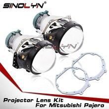 สำหรับHella 3R G5 D2S HID Bi Xenonโปรเจคเตอร์เลนส์สำหรับMitsubishi Pajero Wagonไฟหน้าRetrofitอุปกรณ์เสริมชุดกรอบเปลี่ยน
