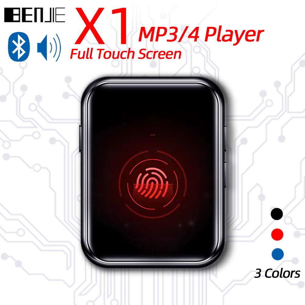 BENJIE Mp3-Player Radio-Recorder Bluetooth Mp3 Built-In-Speaker Full-Touch-Screen Portable title=