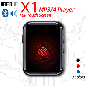 BENJIE X1 Full Touch Screen Bluetooth MP3 MP3 Player Portable Audio Music Player With Built-in Speaker FM Radio,Recorder,E-Book