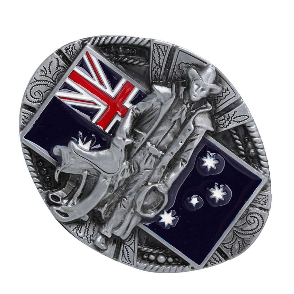 Western Cowboy Cowgirl Belt Buckle Zinc Alloy Australian Flag Belt Buckle Jeans Accessory Cool Man Boy Gift