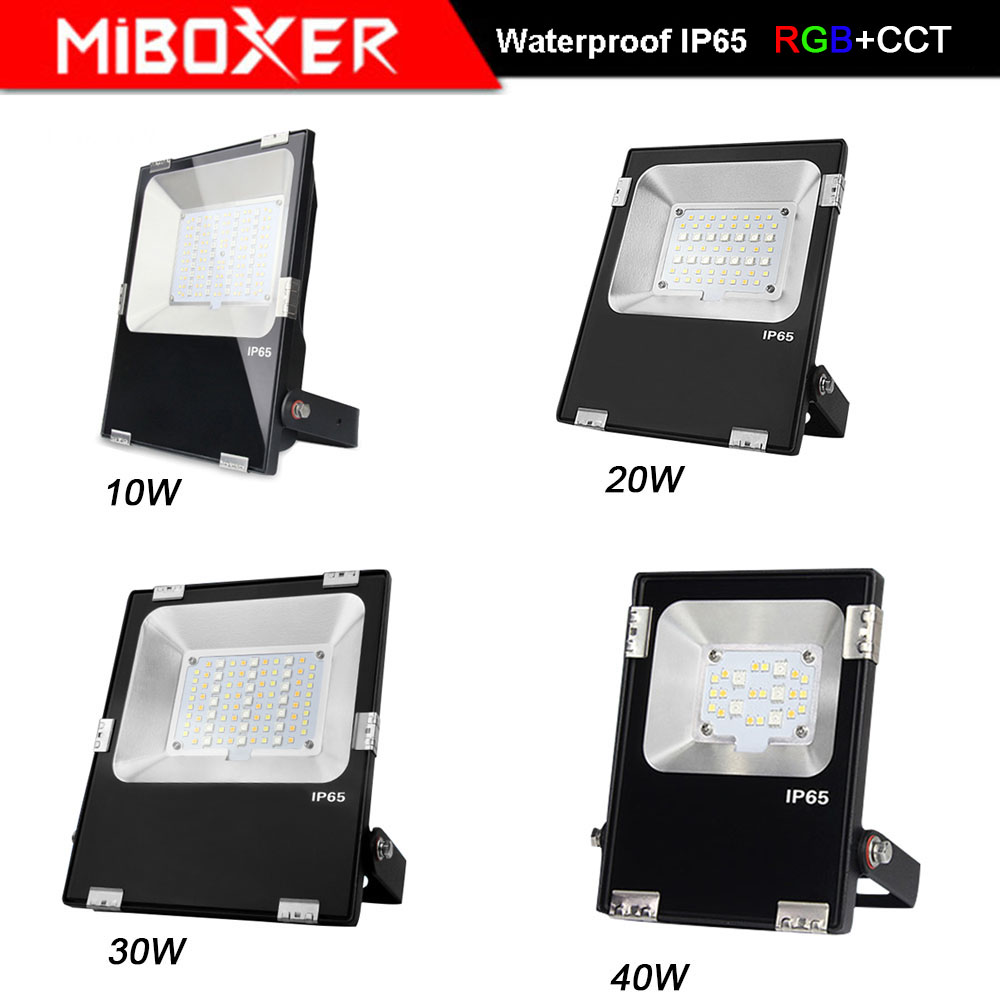 MiBOXER FUTT02/ FUTT03/FUTT04 /FUTT05/FUTT06 10W/20W/30W/50W RGB+CCT LED Flood light AC100-240V DC24V IP65 Outdoor Garden Light