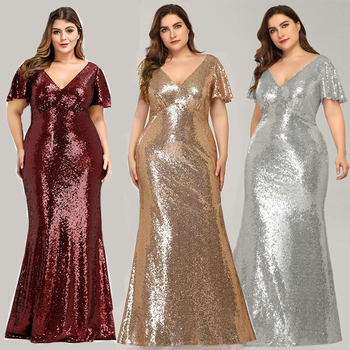 Evening Dresses Pretty Formal Dresses Plus Size Long Party Gowns Mermaid High-neck Zipper back Floor-Length Prom Dresses Fashion 6