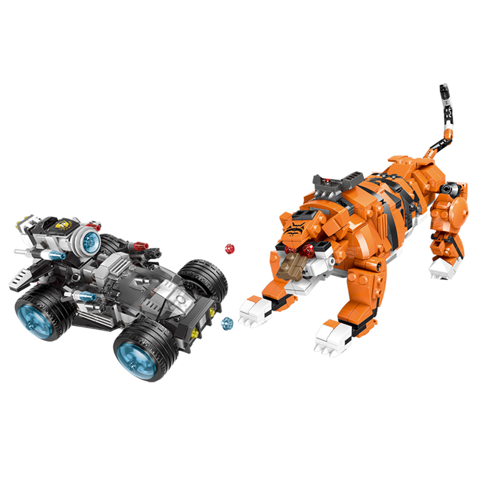 XINGBAO 10005 City Police Series Stop The Modification of The Tiger Set Scenes Building Blocks Bricks Kids Toys Christmas Gift in Blocks from Toys Hobbies