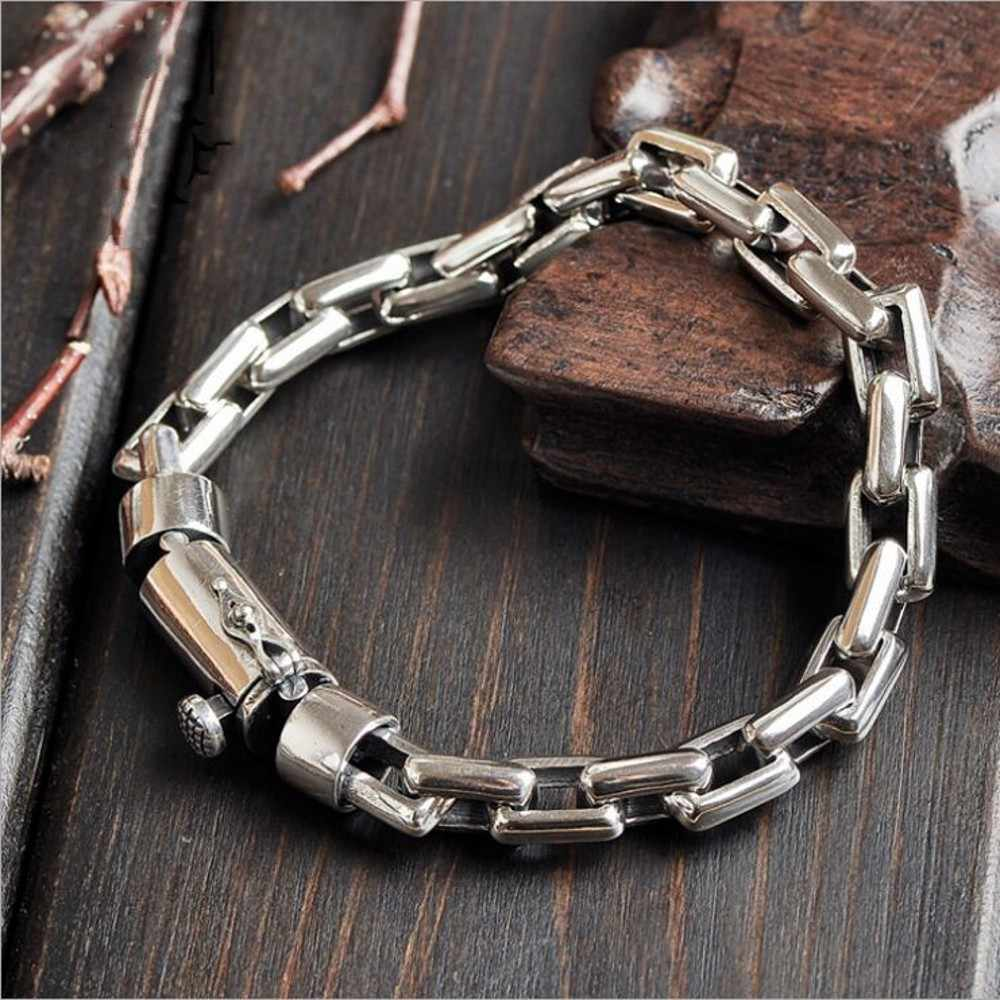 Оригинальные пары моделей S925 Твердые серебряные цепи ювелирные изделия личности поп крест цепь Настоящий Серебряный браслет