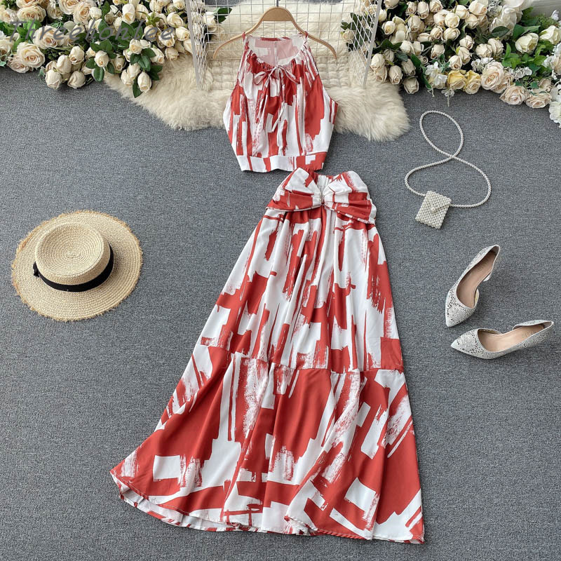 Two Piece Sets Woman Long Maxi Skirt 1